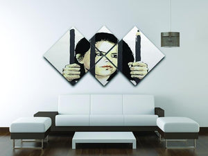 Banksy Zehra Dogan New York 4 Square Multi Panel Canvas - Canvas Art Rocks - 3