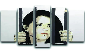 Banksy Zehra Dogan New York 5 Split Panel Canvas  - Canvas Art Rocks - 1