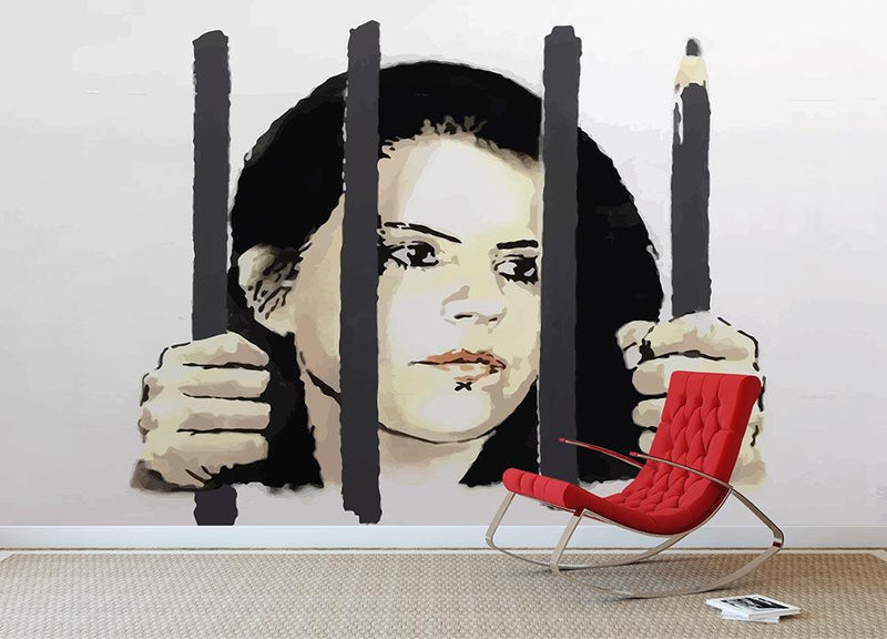 Banksy Zehra Dogan New York Wall Mural Wallpaper - Canvas Art Rocks - 1