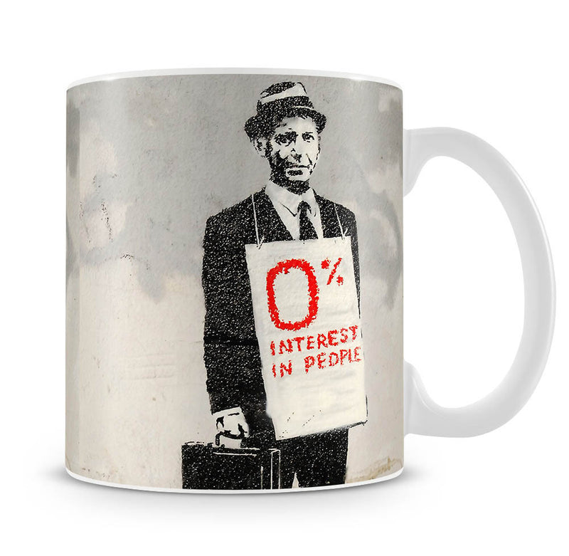 Banksy Zero Percent Interest Mug - Canvas Art Rocks