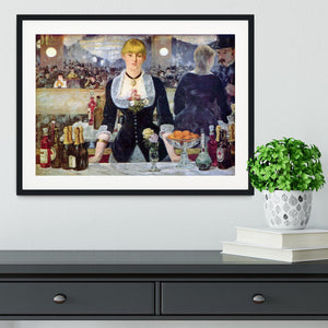 Bar in the Folies-Bergere by Manet Framed Print - Canvas Art Rocks - 1