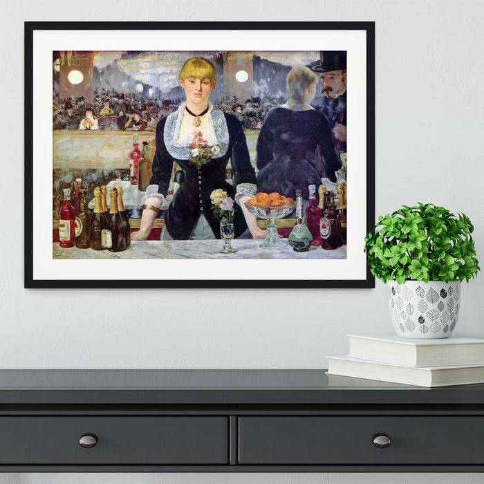 Bar in the Folies-Bergere by Manet Framed Print
