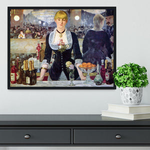 Bar in the Folies-Bergere by Manet Framed Print - Canvas Art Rocks - 2
