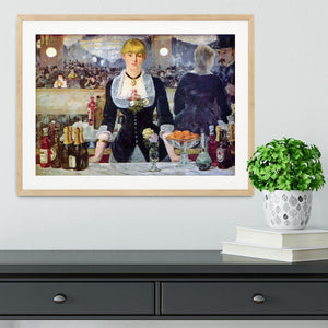 Bar in the Folies-Bergere by Manet Framed Print - Canvas Art Rocks - 3