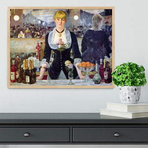 Bar in the Folies-Bergere by Manet Framed Print - Canvas Art Rocks - 4
