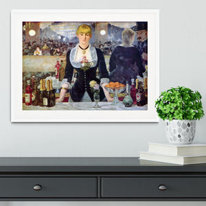 Bar in the Folies-Bergere by Manet Framed Print - Canvas Art Rocks - 5