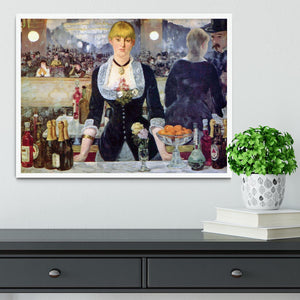 Bar in the Folies-Bergere by Manet Framed Print - Canvas Art Rocks -6
