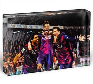 Barcelona Suarez Messi Neymar Acrylic Block - Canvas Art Rocks - 1