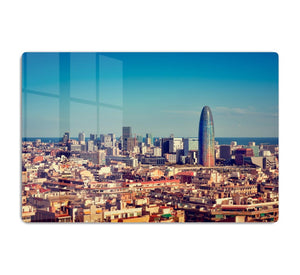 Barcelona skyline with skyscrapers HD Metal Print