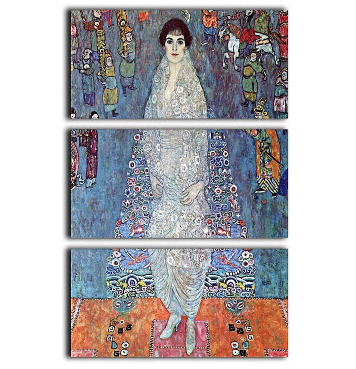 Baroness Elizabeth by Klimt 3 Split Panel Canvas Print