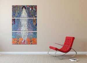 Baroness Elizabeth by Klimt 3 Split Panel Canvas Print - Canvas Art Rocks - 2