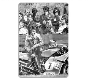 Barry Sheene motorcycle racer HD Metal Print