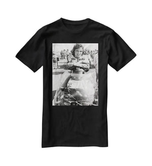 Barry Sheene motorcycle racing champion T-Shirt - Canvas Art Rocks - 1