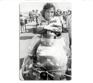 Barry Sheene motorcycle racing champion HD Metal Print