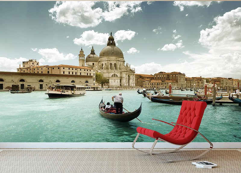 Basilica Santa Maria della Salute sunny day Wall Mural Wallpaper - Canvas Art Rocks - 1