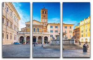 Basilica of Saint Mary in Rome 3 Split Panel Canvas Print - Canvas Art Rocks - 1