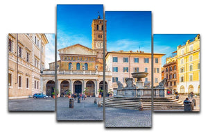 Basilica of Saint Mary in Rome 4 Split Panel Canvas  - Canvas Art Rocks - 1
