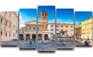 Basilica of Saint Mary in Rome 5 Split Panel Canvas  - Canvas Art Rocks - 1