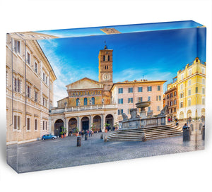 Basilica of Saint Mary in Rome Acrylic Block - Canvas Art Rocks - 1