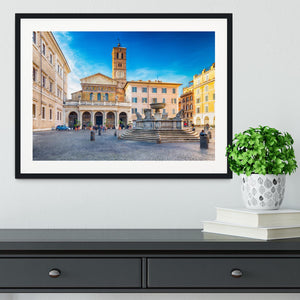 Basilica of Saint Mary in Rome Framed Print - Canvas Art Rocks - 1