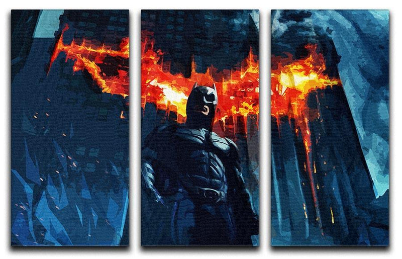 Batman 3 Split Panel Canvas Print - Canvas Art Rocks - 4