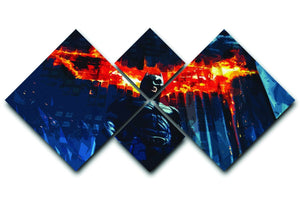 Batman 4 Square Multi Panel Canvas  - Canvas Art Rocks - 1