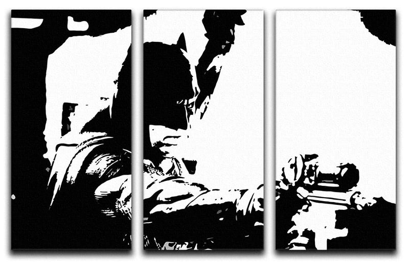 Batman Pop Art 3 Split Panel Canvas Print - Canvas Art Rocks