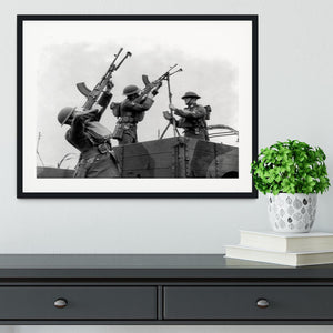 Battalion with anti-aircraft guns Framed Print - Canvas Art Rocks - 1