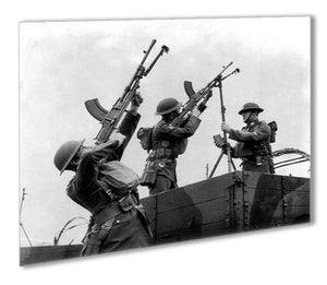 Battalion with anti-aircraft guns Outdoor Metal Print - Canvas Art Rocks - 1