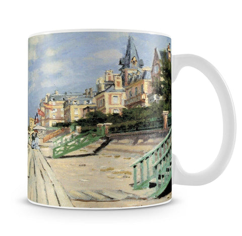 Beach at trouville by Monet Mug - Canvas Art Rocks - 4