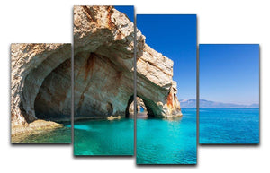 Beautiful sea landscapes 4 Split Panel Canvas  - Canvas Art Rocks - 1