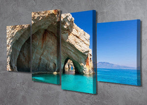 Beautiful sea landscapes 4 Split Panel Canvas  - Canvas Art Rocks - 2