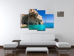 Beautiful sea landscapes 4 Split Panel Canvas  - Canvas Art Rocks - 3