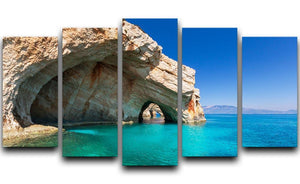Beautiful sea landscapes 5 Split Panel Canvas  - Canvas Art Rocks - 1
