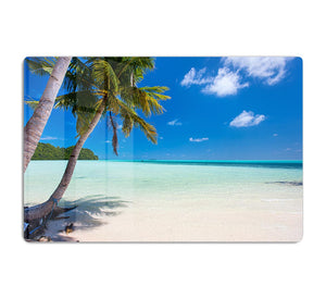 Beautiful tropical beach with palm trees HD Metal Print - Canvas Art Rocks - 1