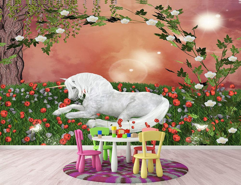 Beautiful unicorn Wall Mural Wallpaper - Canvas Art Rocks - 1