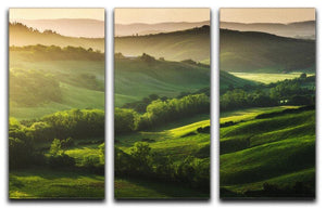 Beautifully illuminated landscape 3 Split Panel Canvas Print - Canvas Art Rocks - 1