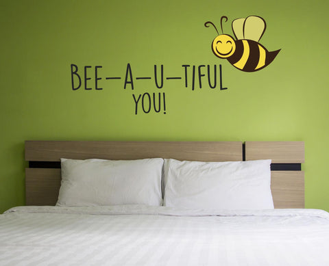 Bee-a-u-tiful Wall Sticker - They'll Love Wall Art - 1