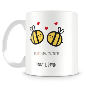 We Bee Long Together Personalised Mug