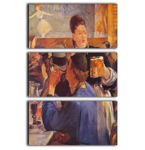 Beer Waitress by Manet 3 Split Panel Canvas Print - Canvas Art Rocks - 1
