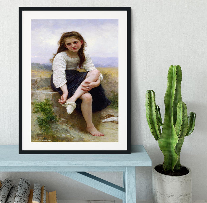 Before The Bath By Bouguereau Framed Print