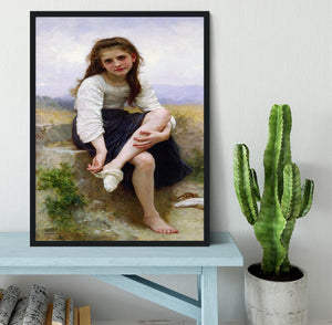 Before The Bath By Bouguereau Framed Print - Canvas Art Rocks - 2