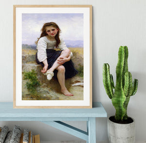 Before The Bath By Bouguereau Framed Print - Canvas Art Rocks - 3