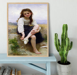 Before The Bath By Bouguereau Framed Print - Canvas Art Rocks - 4
