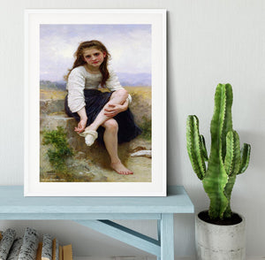 Before The Bath By Bouguereau Framed Print - Canvas Art Rocks - 5
