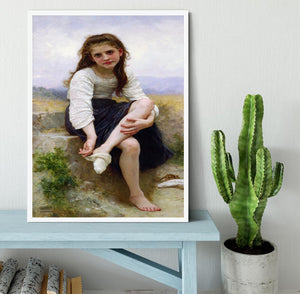 Before The Bath By Bouguereau Framed Print - Canvas Art Rocks -6