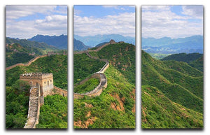 Beijing Great Wall of China 3 Split Panel Canvas Print - Canvas Art Rocks - 1