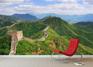 Beijing Great Wall of China Wall Mural Wallpaper - Canvas Art Rocks - 2