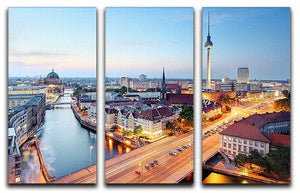Berlin skyline 3 Split Panel Canvas Print - Canvas Art Rocks - 1