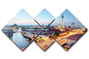 Berlin skyline 4 Square Multi Panel Canvas  - Canvas Art Rocks - 1
